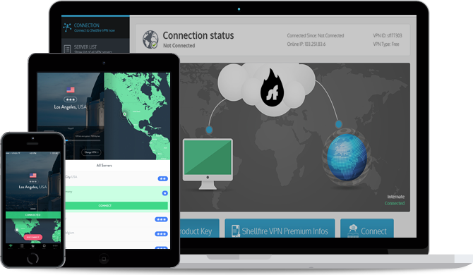 Screenshot della VPN Shellfire per iPhone/iPad, Windows e Mac OS